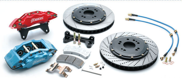 calipers, pads, discs, Rotors
